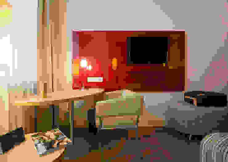 Anna Buczny PROJEKTOWANIE WNĘTRZ Modern hotels Chipboard Red