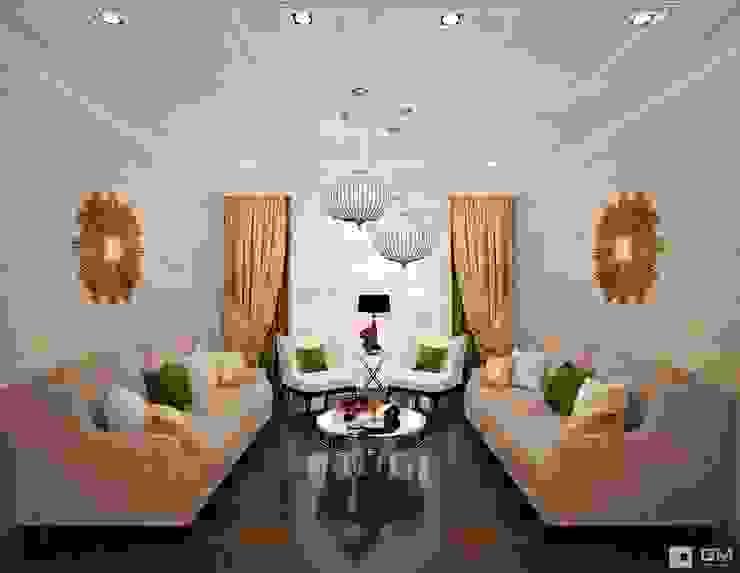 Дизайн интерьера 2-х комнатной квартиры : Гостиная в . Автор – GM-interior, Классический