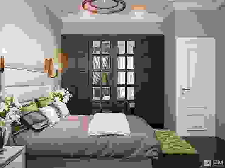 Дизайн интерьера 2-х комнатной квартиры GM-interior Спальня в классическом стиле
