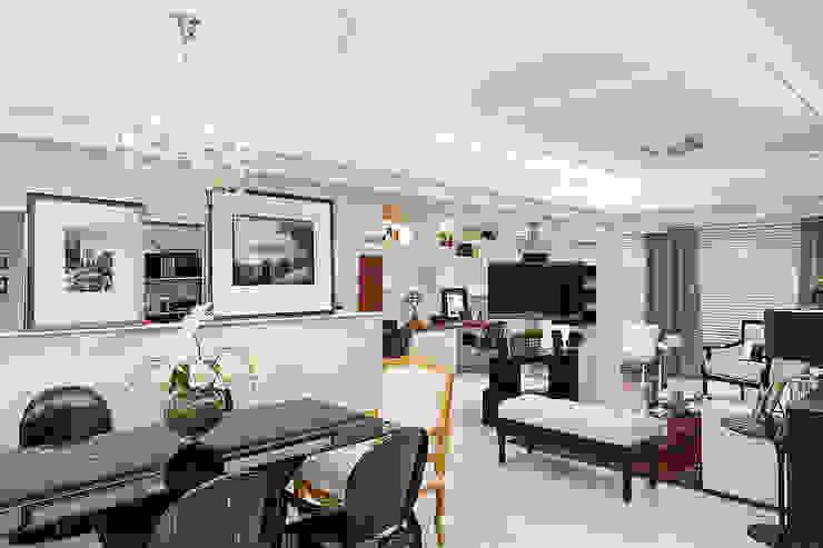 Salas de estilo moderno de marli lima designer de interiores Moderno