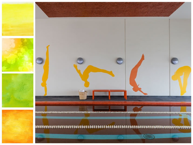 Gimnasios en casa de estilo minimalista de MARIANGEL COGHLAN Minimalista