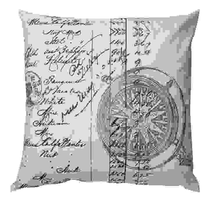 Kissen Compass von Indes Fuggerhaus Textil GmbH Skandinavisch