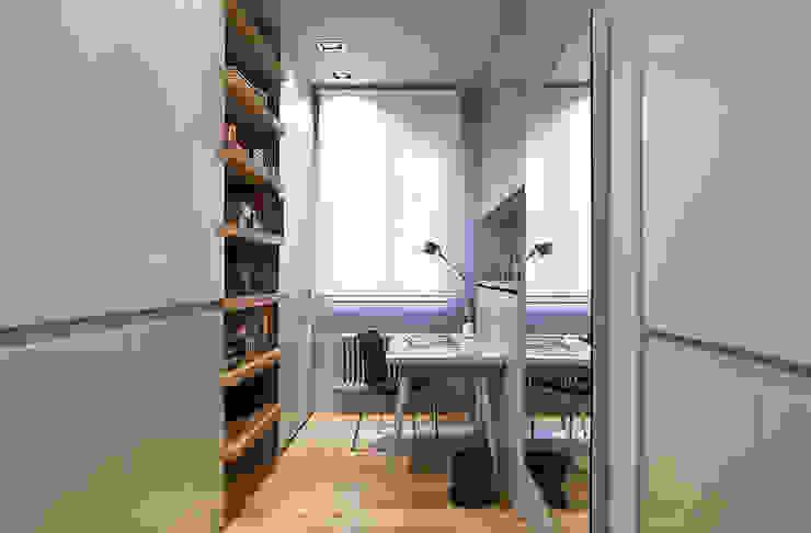 Reforma integral en el centro de Bilbao. Estudios y despachos de estilo moderno de Urbana Interiorismo Moderno