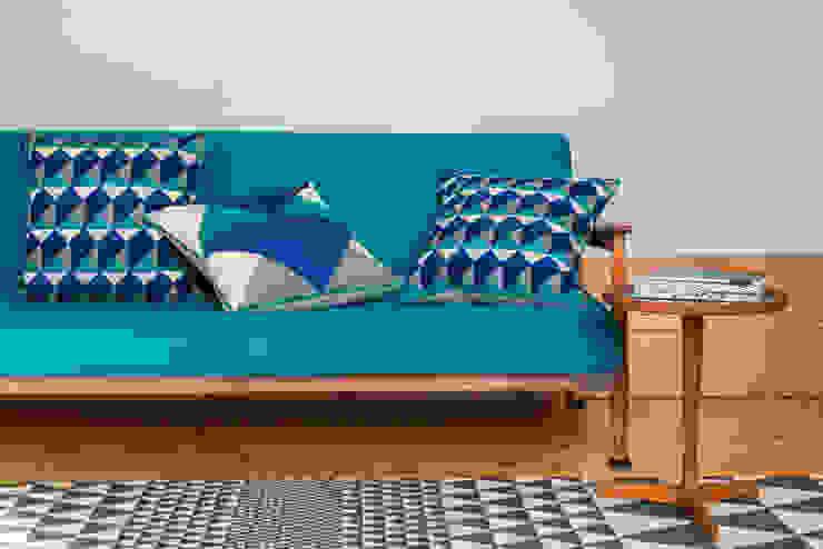 LeWitt and Escher Cushions (Emerald/Navy): modern  by Niki Jones, Modern