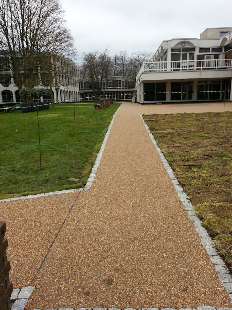 Creating a modern look to paths. Permeable Paving Solutions UK Commercial Spaces
