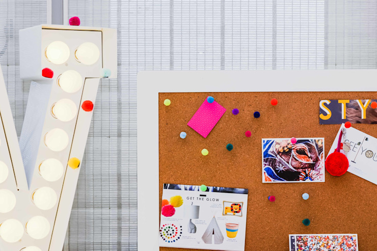 ​Pom pom push pins Eclectic style study/office by PomPom Galore Eclectic
