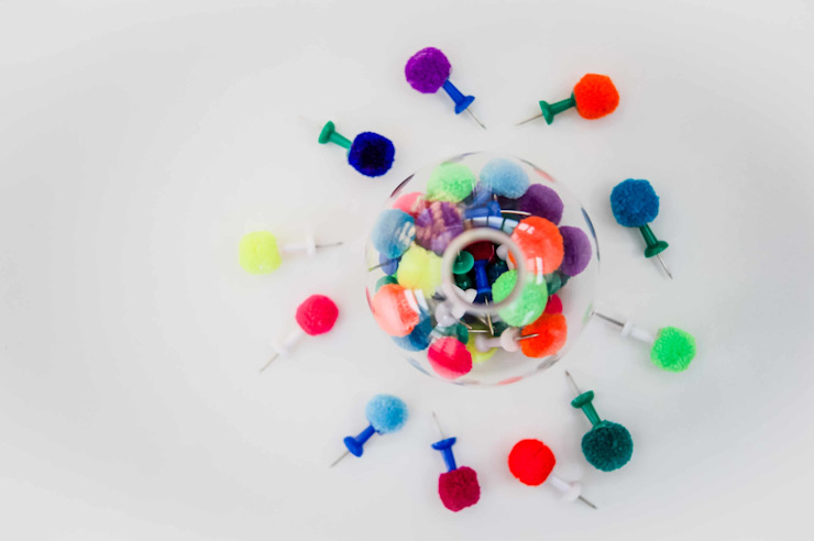 Pom Pom Push Pins / Drawing Pins : eclectic  by PomPom Galore, Eclectic