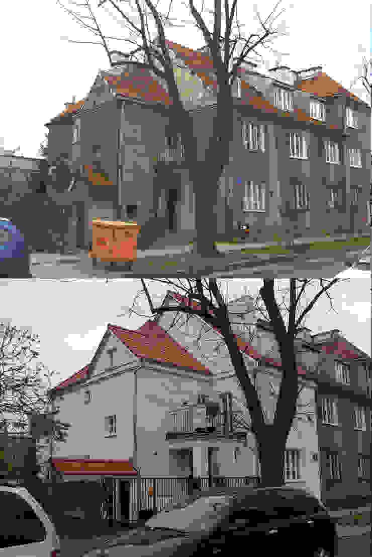 Dom przed i po przebudowie. od Nowak i Nowak Architekci