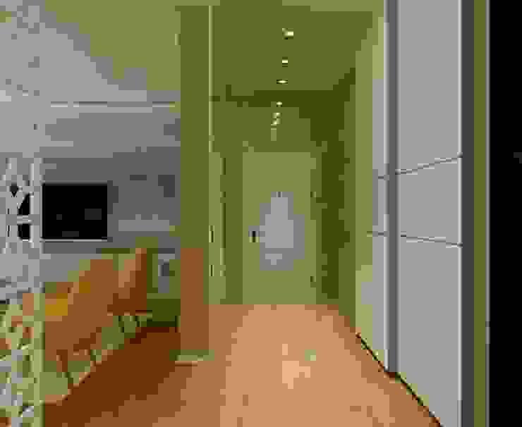 STRIPES Коридор, прихожая и лестница в эклектичном стиле от Design by Ladurko Olga Эклектичный