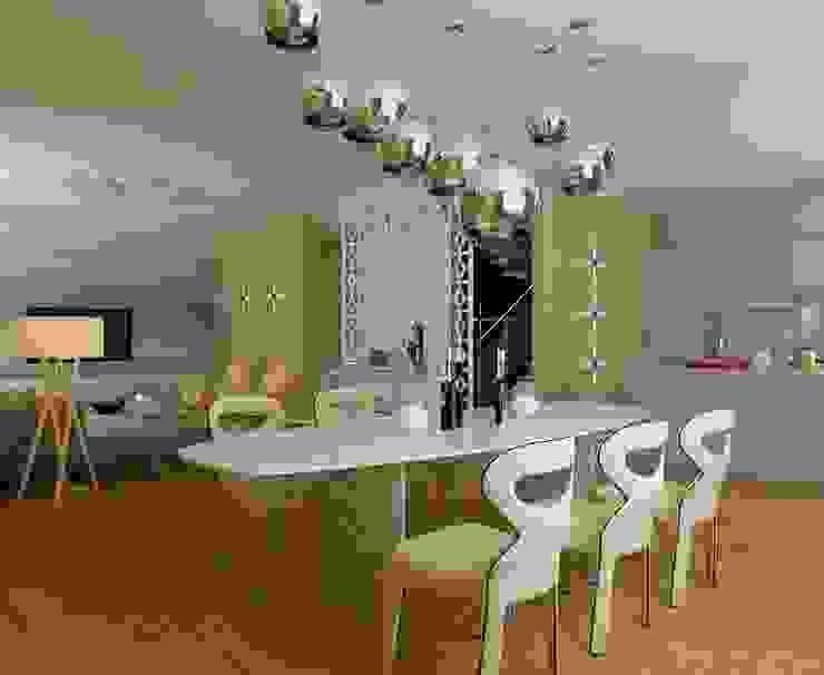STRIPES Столовая комната в эклектичном стиле от Design by Ladurko Olga Эклектичный