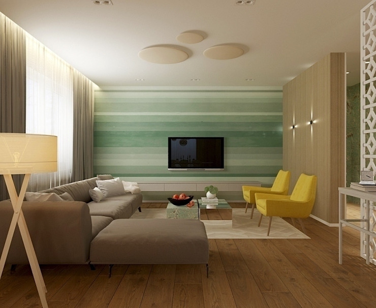 Eclectic style living room by Design by Ladurko Olga Eclectic