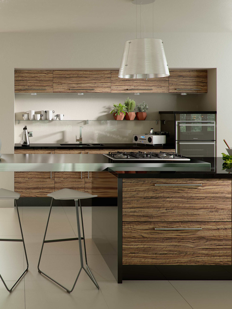 DM Design Olivewood Door Range Modern kitchen by DM Design Modern