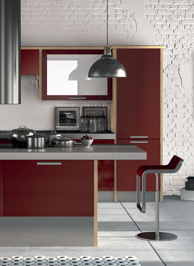 DM Design Burgundy Door Range Modern kitchen by DM Design Modern