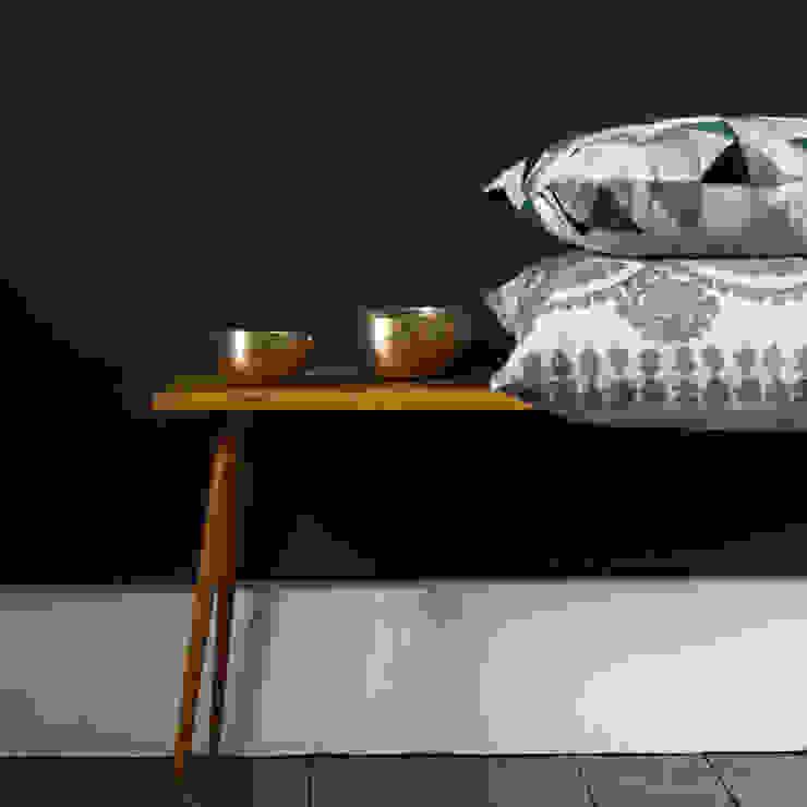 Harlequin Linen Cushion (Grey) and Medina Cushion (Pewter): classic  by Niki Jones, Classic