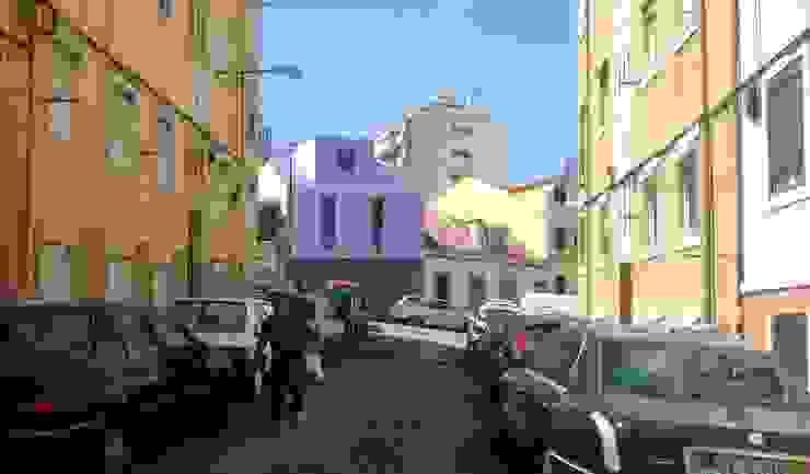 Fachada Principal Casas minimalistas por HRA-Lisboa Minimalista