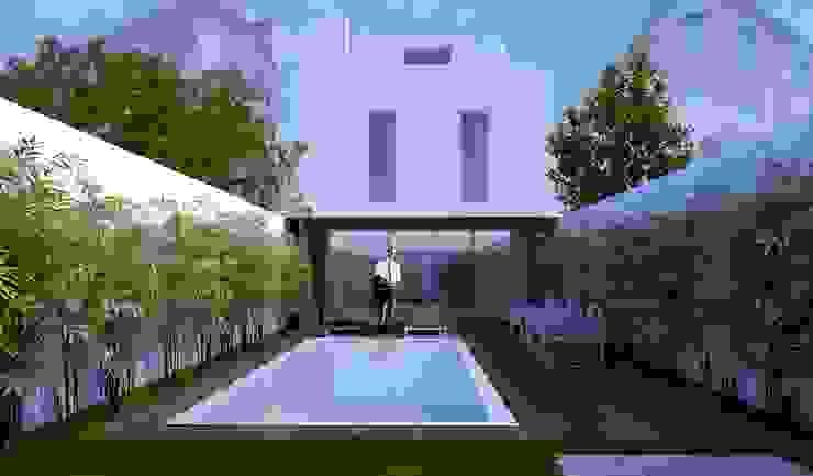 Fachada Tardoz Casas minimalistas por HRA-Lisboa Minimalista