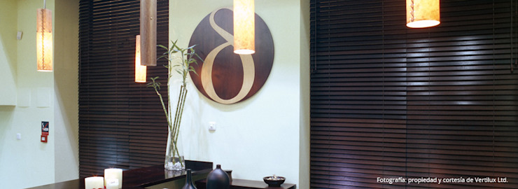 Cortinas horizontales de madera de Dino Conte Moderno