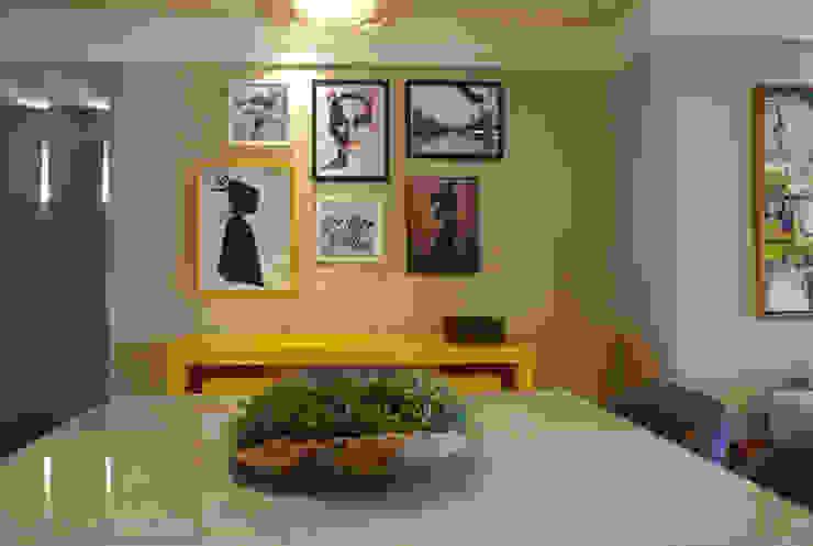 Yellow Salas de jantar modernas por Ju Nejaim Arquitetura Moderno