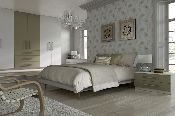 DM Design Alphine White with Olive feature door Classic style bedroom by DM Design Classic