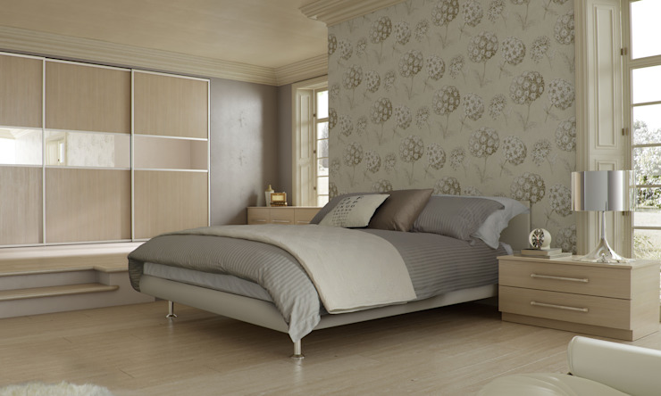 DM Design Champagne Avola Sliding Wardrobes Modern style bedroom by DM Design Modern