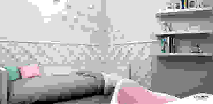 Pokój dziewczynki Nowoczesny pokój dziecięcy od Artenova Design Nowoczesny