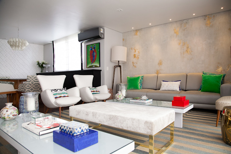 living Salas de estar modernas por Arquitetura Juliana Fabrizzi Moderno