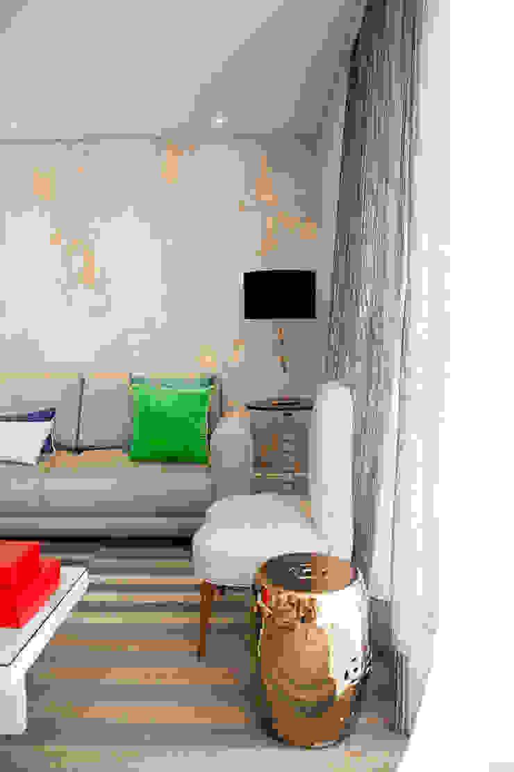 detalhe living Salas de estar modernas por Arquitetura Juliana Fabrizzi Moderno