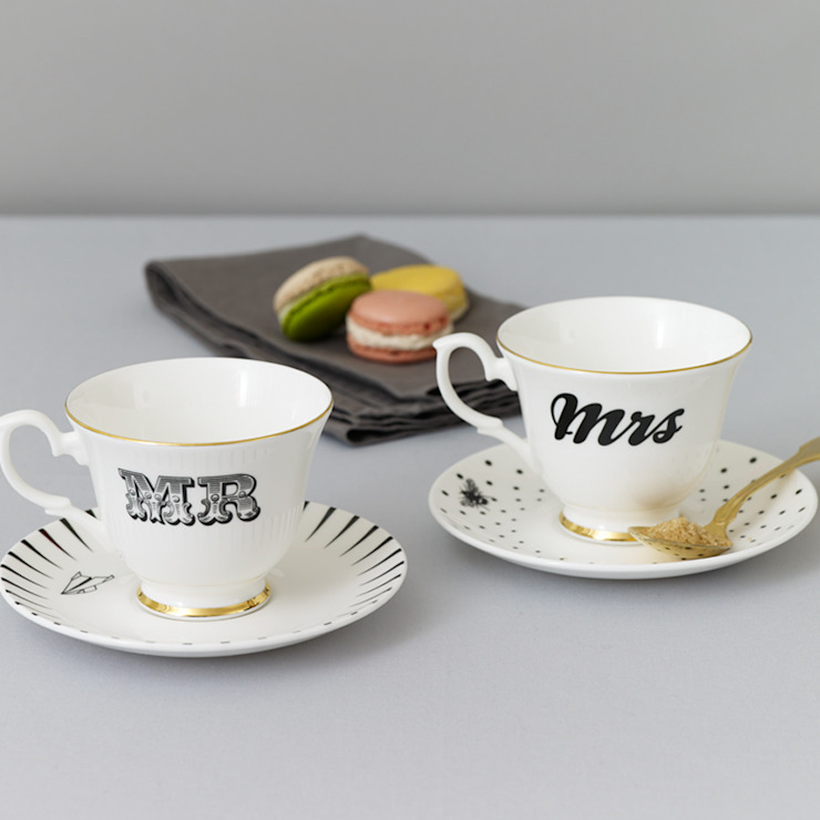 Mr & Mrs Teacup set de Yvonne Ellen Ecléctico