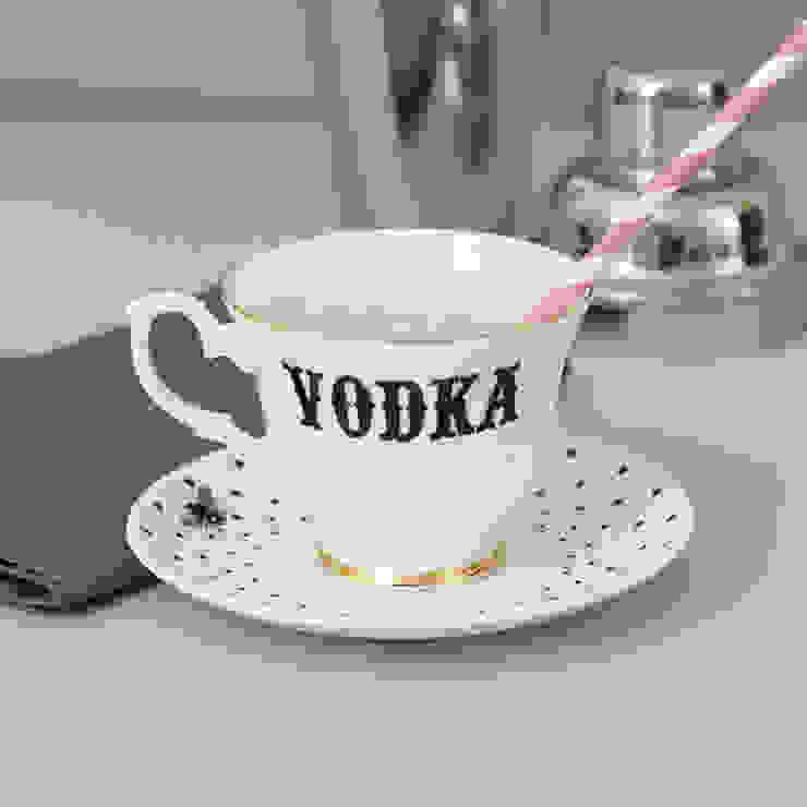 Vodka Teacup & Saucer: eclectic  by Yvonne Ellen, Eclectic