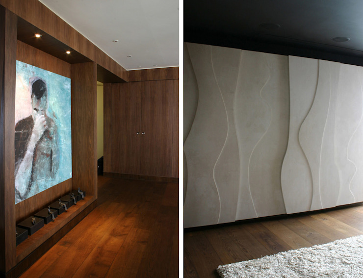 Notting Hill Apartment - 6 Jonathan Clark Architects 現代風玄關、走廊與階梯