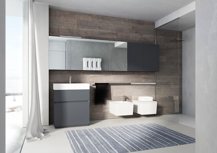 CUBIC Bathroom di ALM Design Minimalista