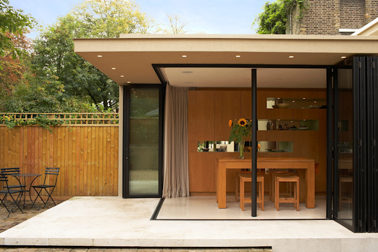 Canonbury House - 1 미니멀리스트 다이닝 룸 by Jonathan Clark Architects 미니멀