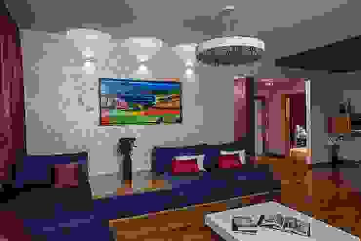 Жизнь в ярких цветах Гостиная в стиле модерн от дизайн студия 'LusiSarkis ' Модерн