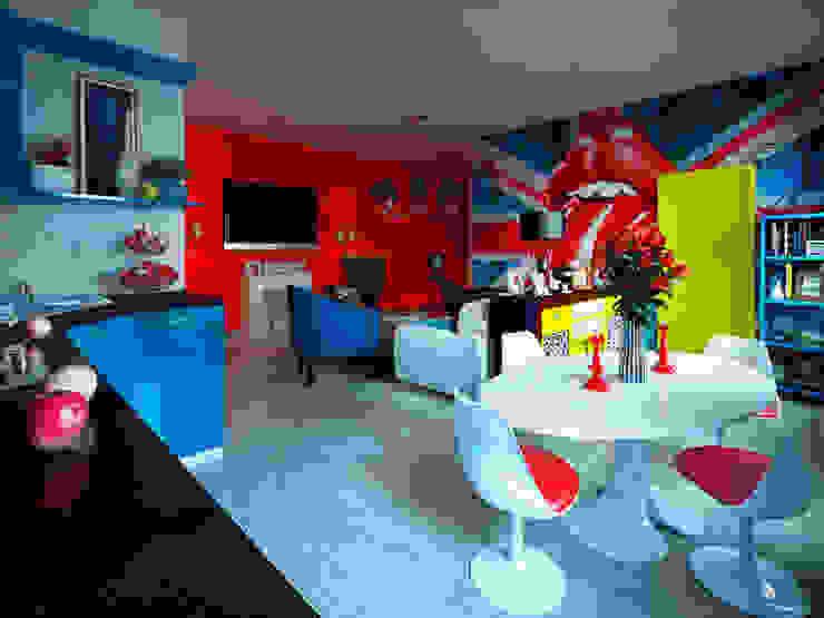 Гостиная в стиле поп-арт Гостиная в стиле модерн от Студия дизайна интерьера Маши Марченко Модерн