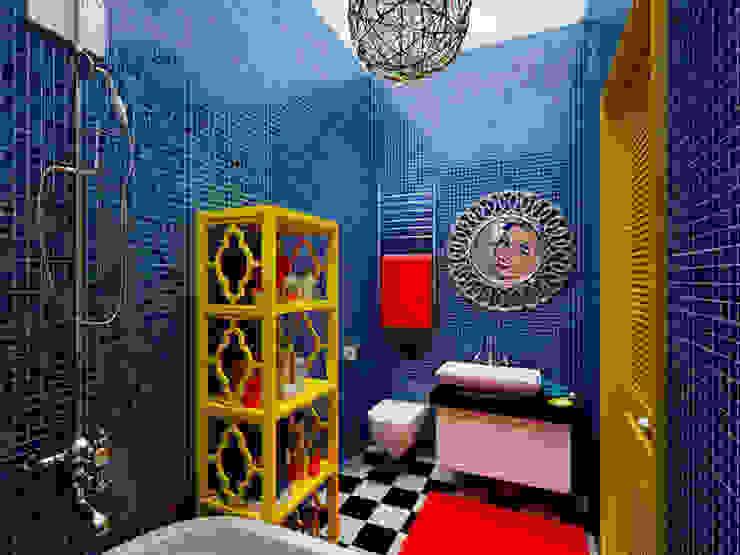 Ванная в стиле поп-арт Ванная комната в стиле модерн от Студия дизайна интерьера Маши Марченко Модерн