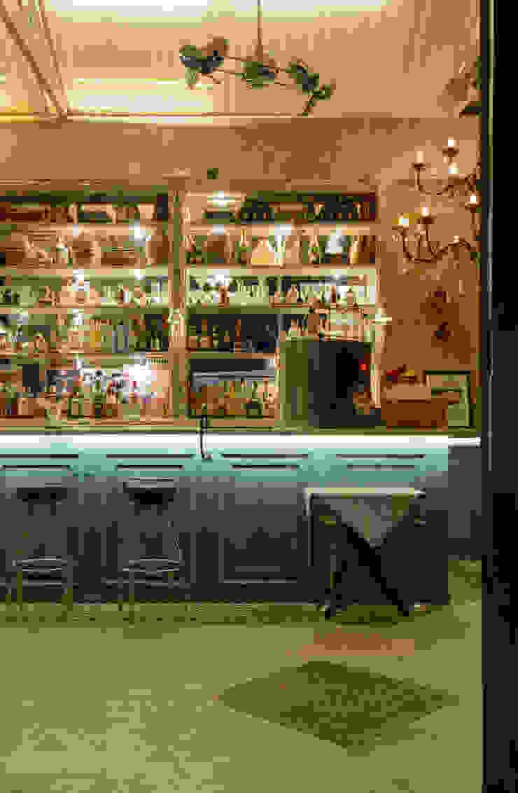detalhe Bar Espaços gastronômicos ecléticos por Arquitetura Juliana Fabrizzi Eclético