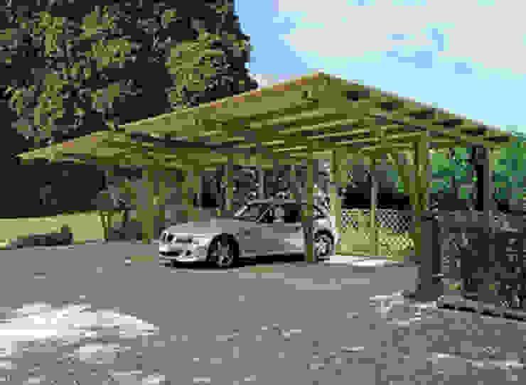 France Abris - Abri voiture avec arc Garage / Hangar classiques par FRANCE ABRIS : Spécialiste abri de jardin, garage, carport Classique