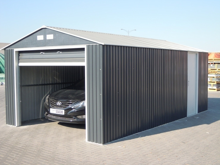 Industrial style garage/shed by FRANCE ABRIS : Spécialiste abri de jardin, garage, carport Industrial