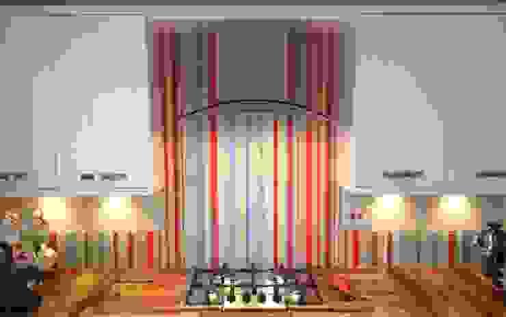 Barcode stripe glass splashback and upstands: modern  by DIYSPLASHBACKS, Modern