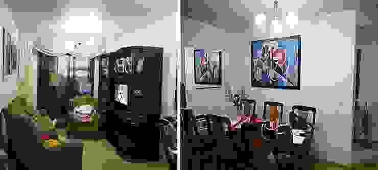 Sala estar e jantar - antes da reforma por Ésse Arquitetura e Interiores