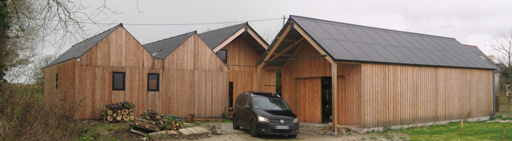 maison bois Maisons modernes par SARL Frédéric MAURET Moderne