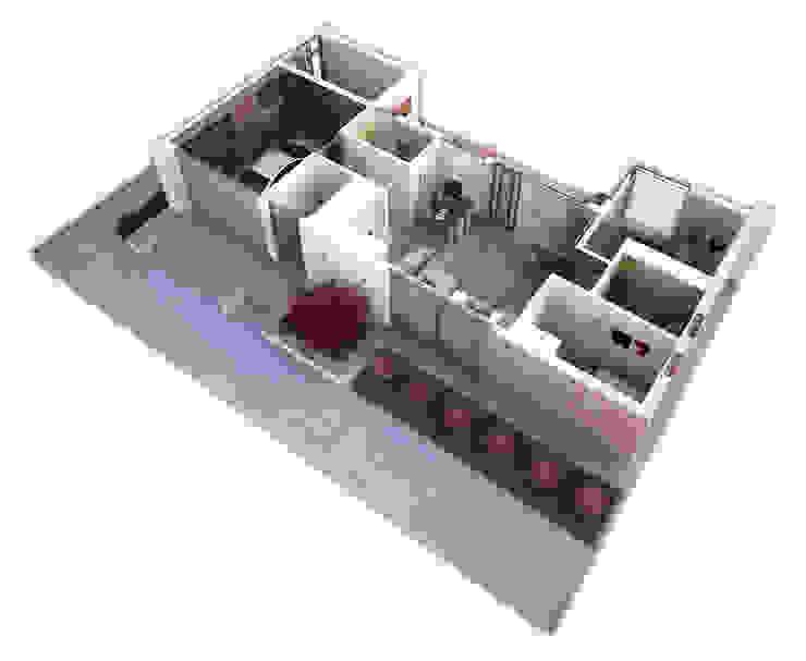 Дом Холостяка 2 Дома в стиле минимализм от Sboev3_Architect Минимализм