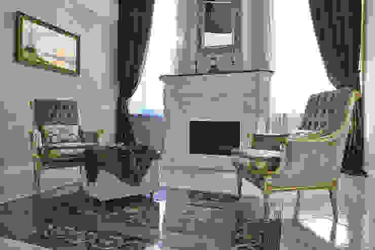 Каминный зал Гостиная в классическом стиле от ODEL Классический Мрамор