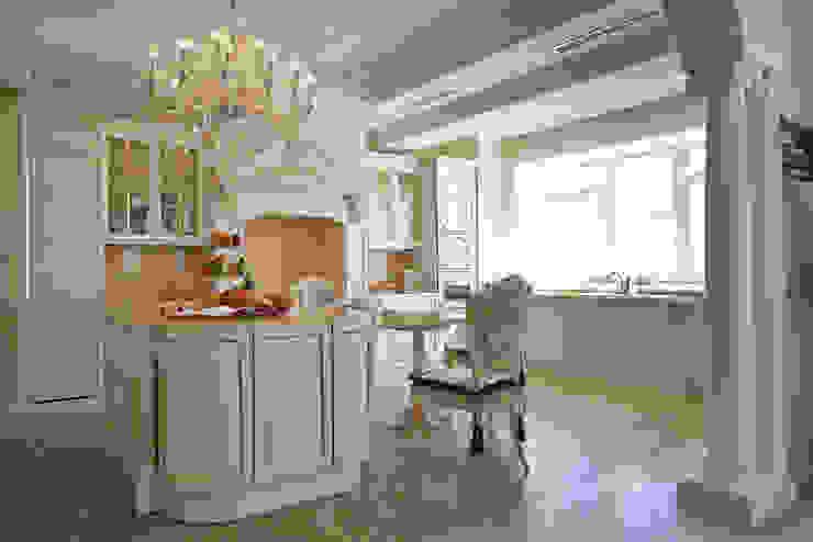 Кухонная зона с островом Кухня в классическом стиле от ODEL Классический