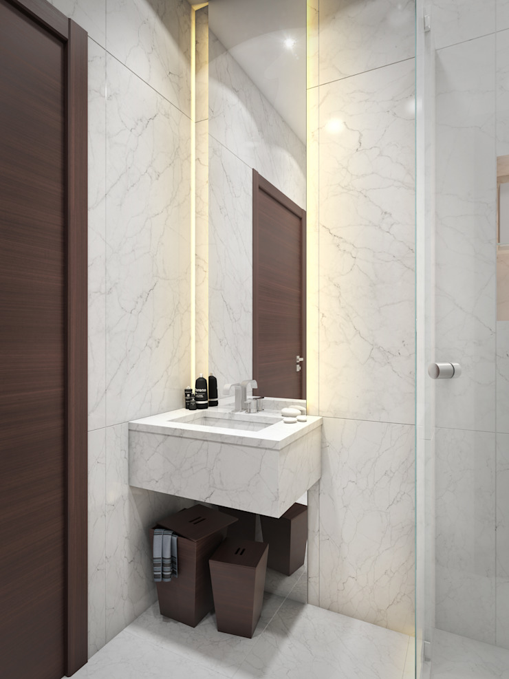 apartment of 32sq.m. Entalcev Konstantin Industrial style bathroom