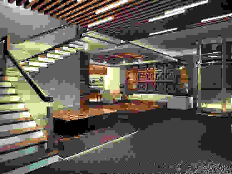 Modern Corridor, Hallway and Staircase by DenisBu Modern