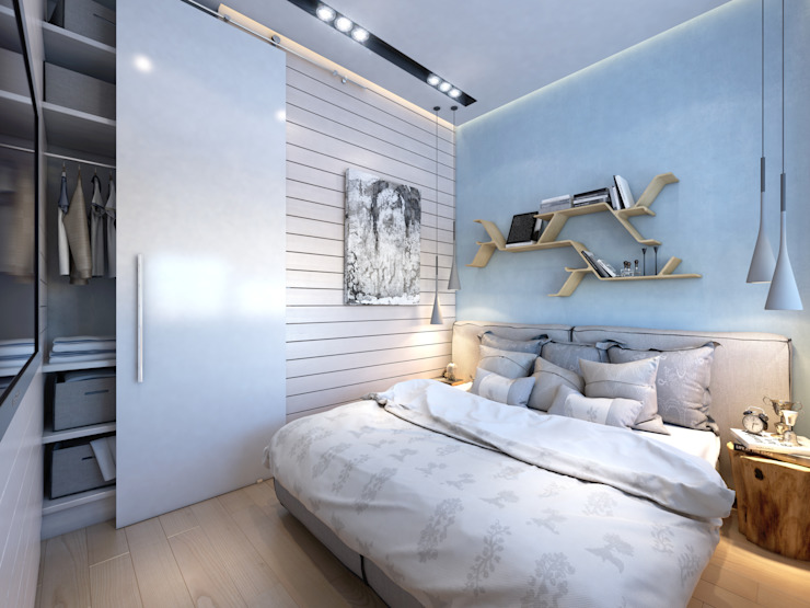 apartment of 35 sq.m. Industrial style bedroom by Entalcev Konstantin Industrial