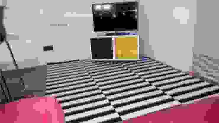 Salon et coin t.v. Salle multimédia moderne par Casavog Moderne