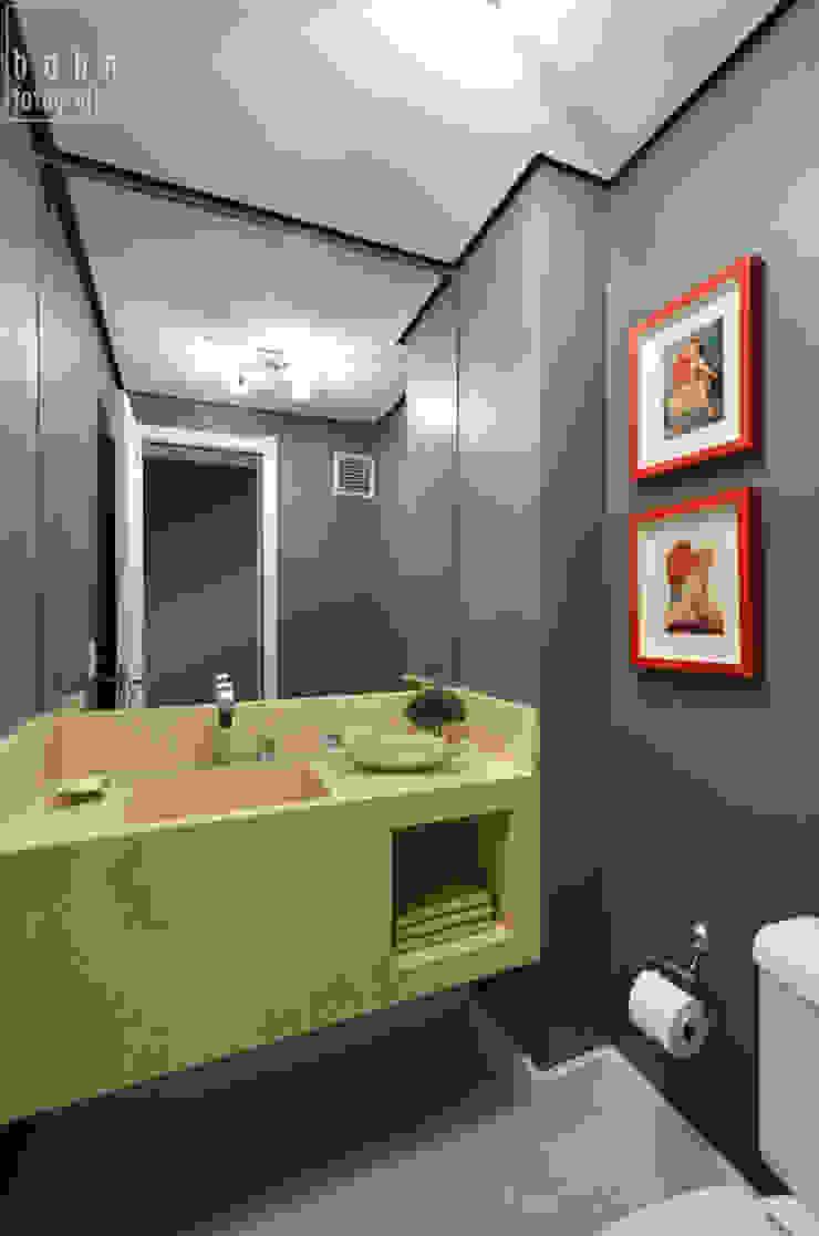 Projeto lavabo contemporâneo Banheiros modernos por ABHP ARQUITETURA Moderno