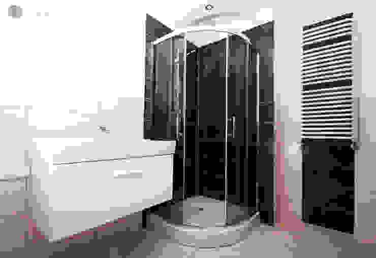 Beż i brąz Bednarski - Usługi Ogólnobudowlane Nowoczesna łazienka